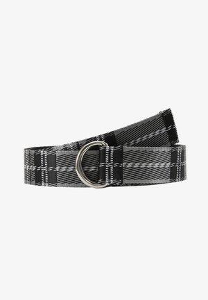 TARTAN BELT - Riem - black/white