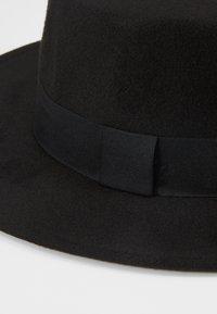 Uncommon Souls - BOATER HAT - Hattu - black - 5