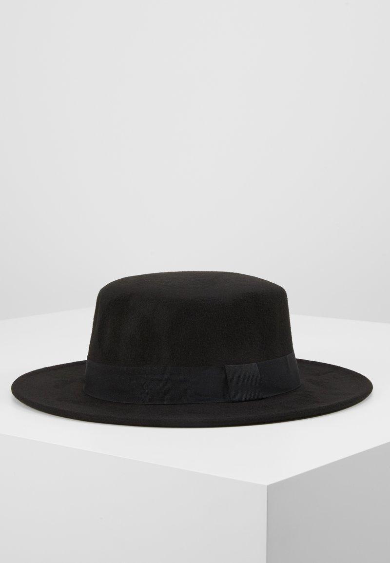 Uncommon Souls - BOATER HAT - Hattu - black