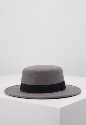 BOATER HAT - Hut - dark grey