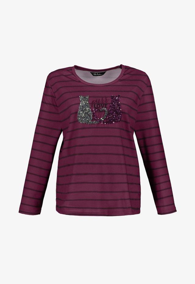 Langarmshirt - violett
