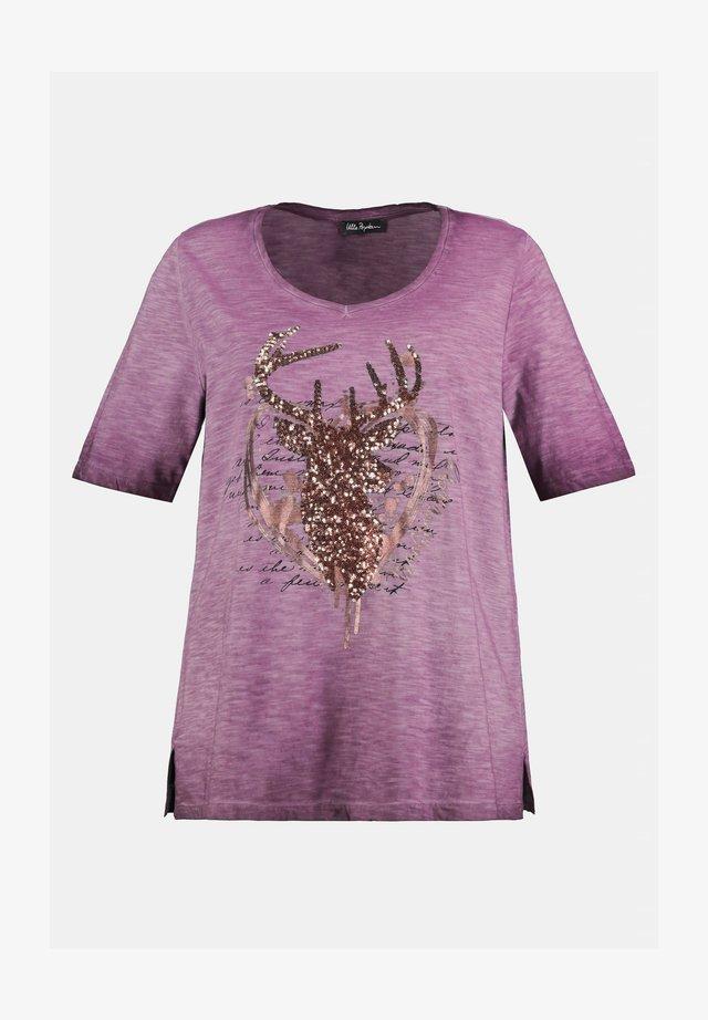 T-Shirt print - granatpink
