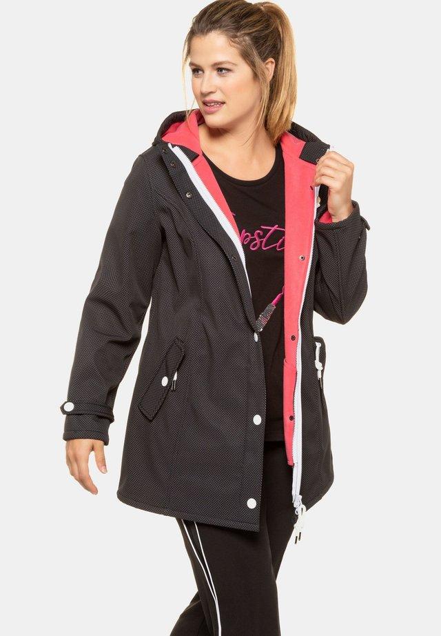 GROSSE GRÖSSEN 3-IN-1 - Soft shell jacket - schwarz