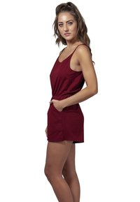 Urban Classics - LADIES SHORT SPAGHETTI - Combinaison - burgundy - 0