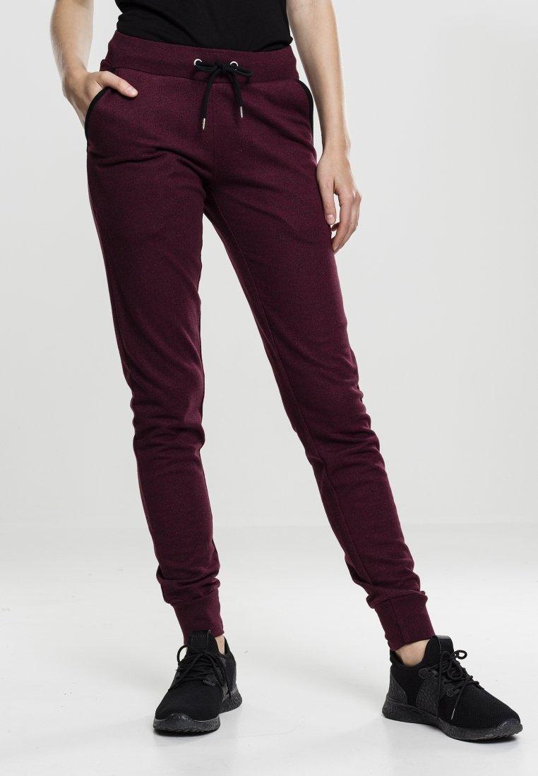 Urban Classics - Pantalon de survêtement - burgundy/black