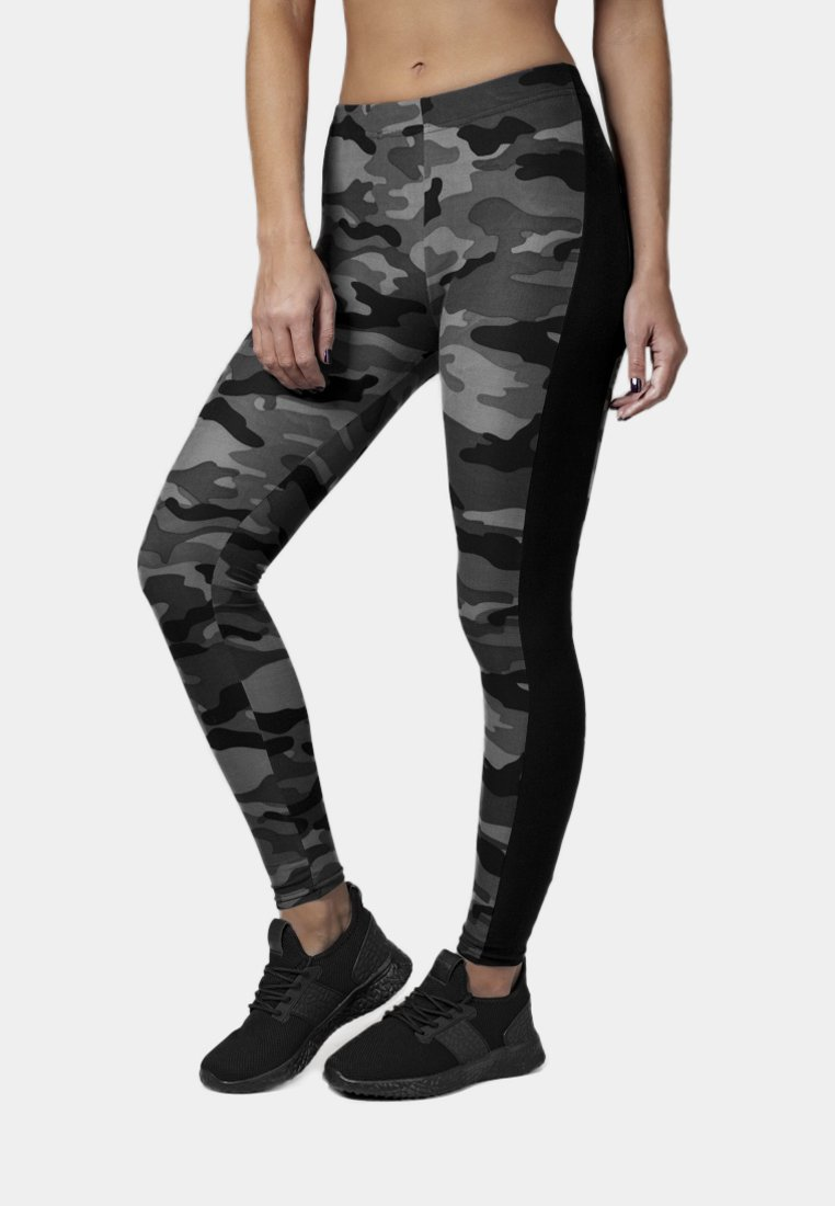 Urban Classics - Leggings - Hosen - darkcamo/blk