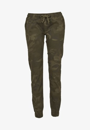 LADIES CAMO PANTS - Trousers - olive camo