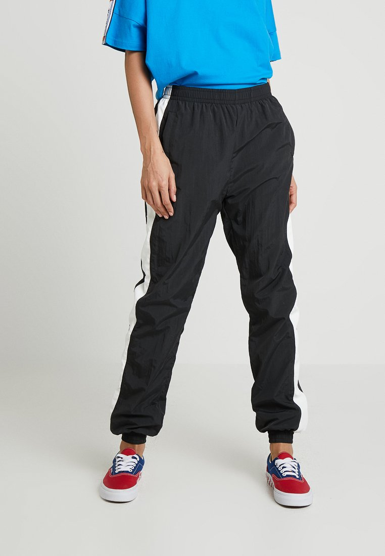 Urban Classics - LADIES STRIPED CRINKLE PANTS - Tracksuit bottoms - black/white