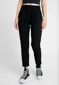 Urban Classics - LADIES ELASTIC WAIST PANTS 2 PACK - Trousers - black - 3