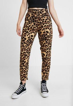 LADIES ELASTIC WAIST PANTS 2 PACK - Pantaloni - black