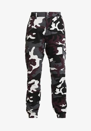 LADIES HIGH WAIST CAMO CARGO PANTS - Bukse - wine