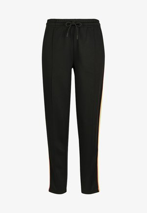 DAMEN LADIES SIDE TAPED TRACK PANTS - Tracksuit bottoms - black