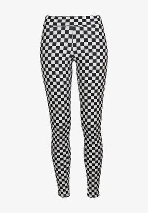 DAMEN  - Leggings - Trousers - black/white