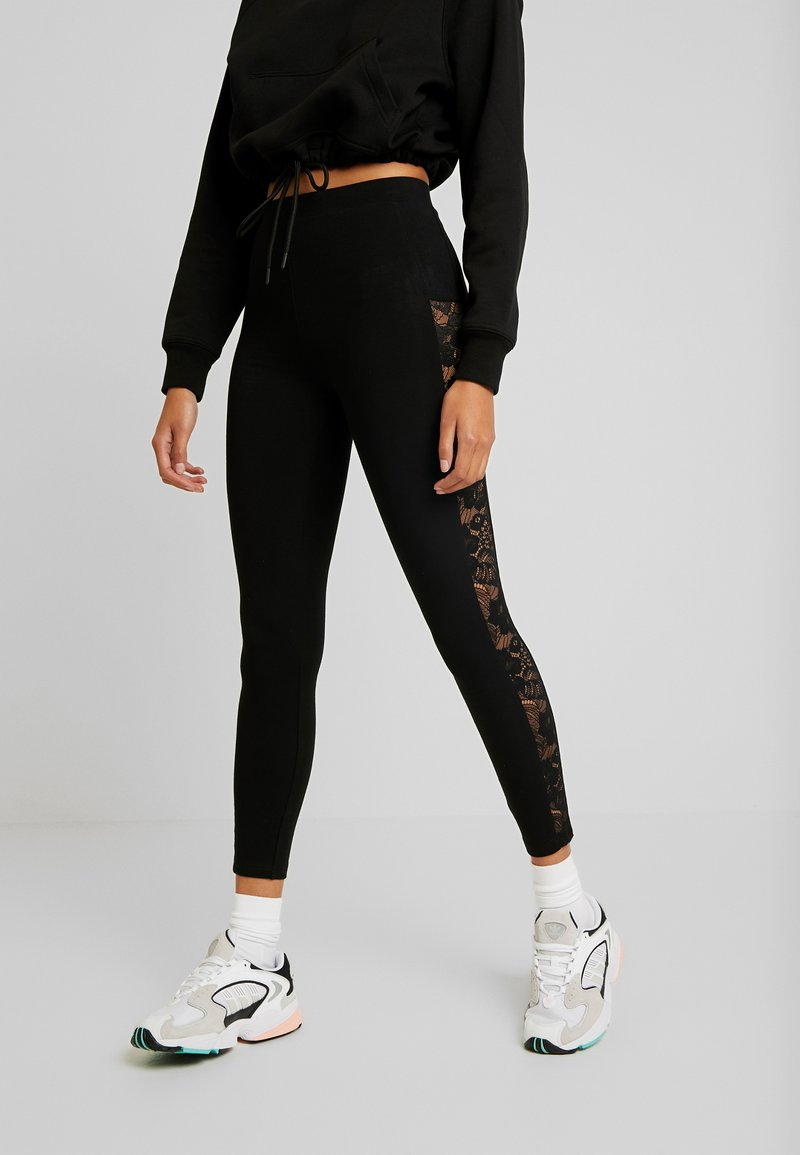 Urban Classics - LADIES - Leggings - Trousers - black