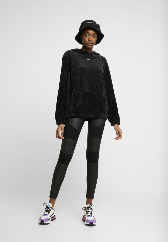 LADIES FAKE TECH - Leggings - Trousers - black