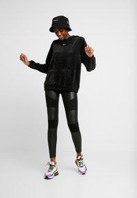 Urban Classics - LADIES FAKE TECH - Leggings - Trousers - black - 1