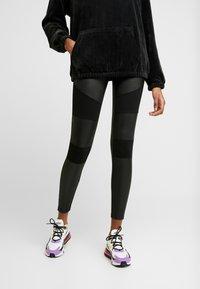 Urban Classics - LADIES FAKE TECH - Leggings - Trousers - black - 3