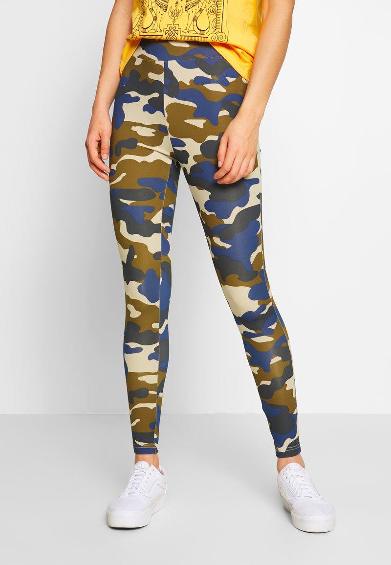 Urban Classics - HIGHWAIST CAMO TECH - Leggings - Trousers - summerolive