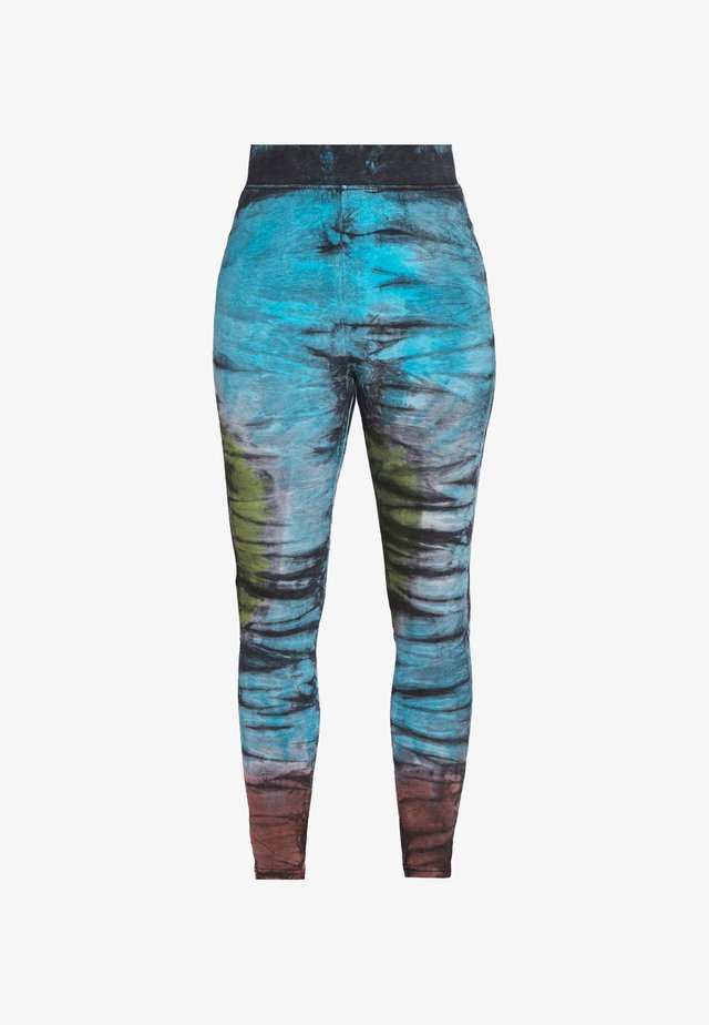 LADIES TIE DYE HIGH WAIST  - Leggings - black