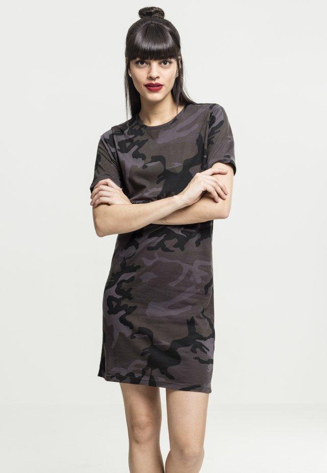 LADIES CAMO TEE DRESS - Jerseyjurk - black