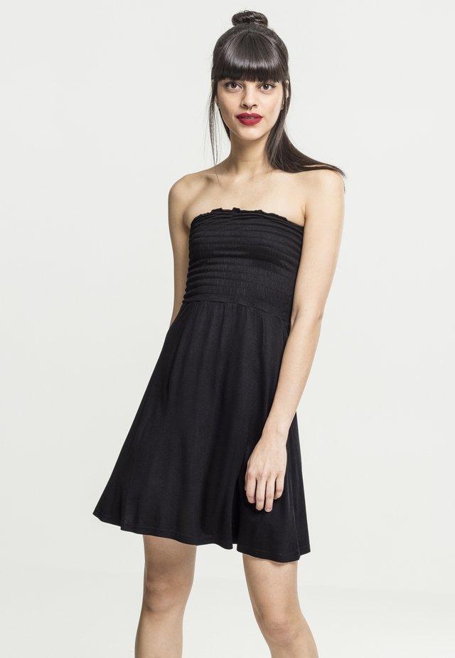 LADIES SMOKE BANDEAU DRESS - Jerseyjurk - black