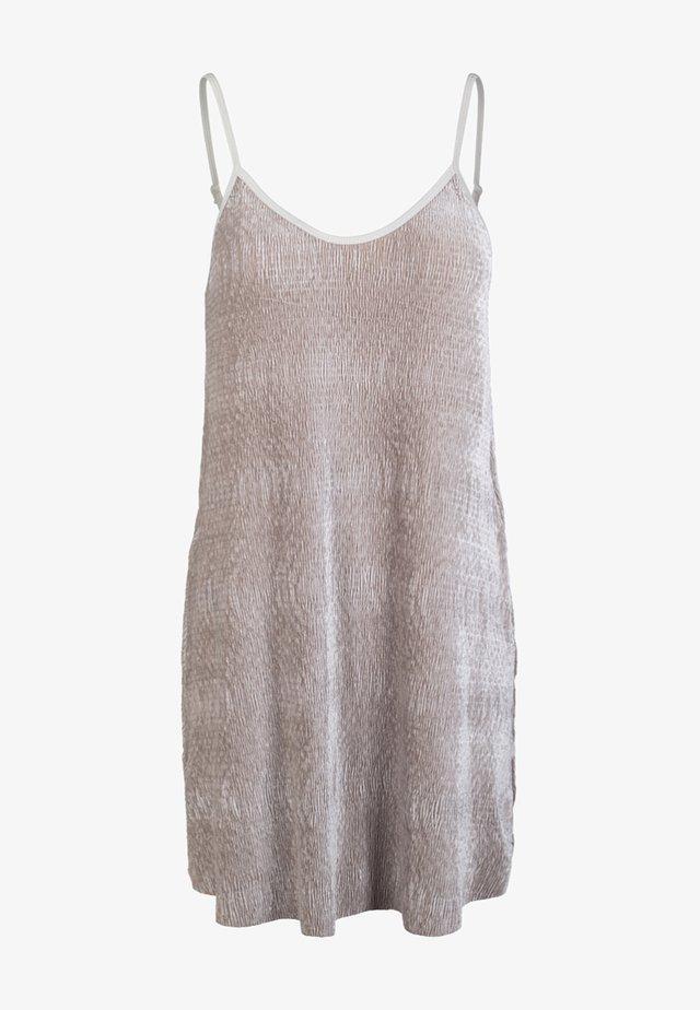 LADIES VELVET - Korte jurk - beige