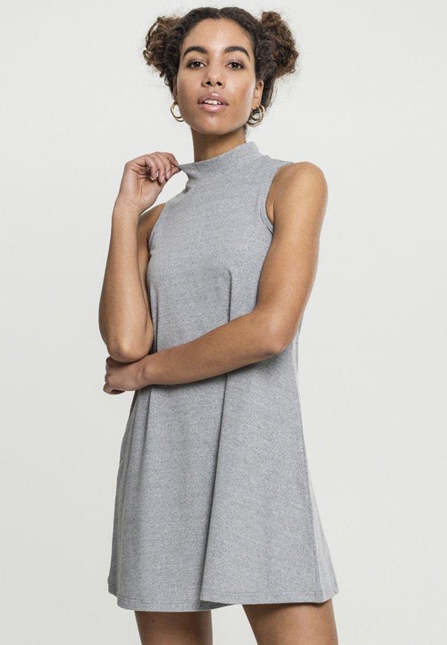 TURTLENECK DRESS - Korte jurk - grey