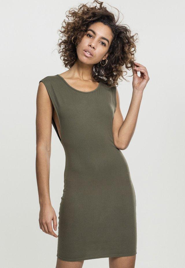 DEEP ARMHOLE DRESS - Korte jurk - olive