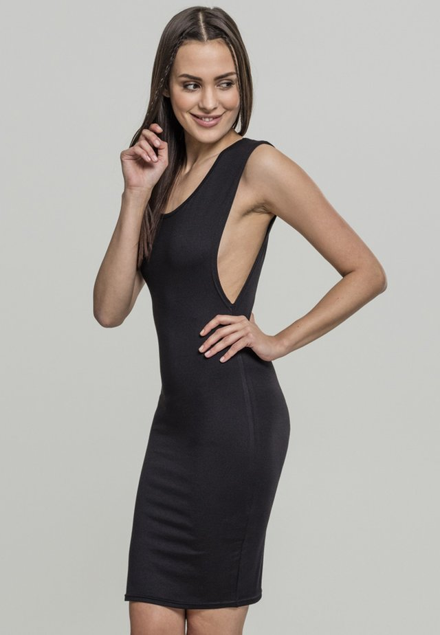 DEEP ARMHOLE DRESS - Korte jurk - black
