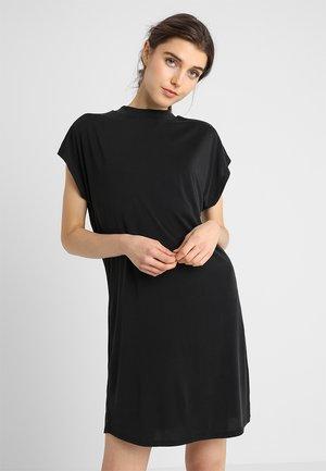 LADIES DRESS - Vestito di maglina - black