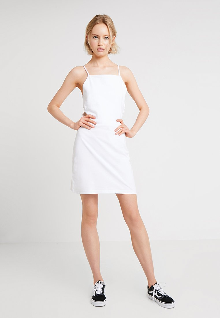 Urban Classics - LADIES SPAGHETTI DRESS - Vestido informal - white