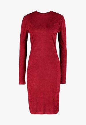 LADIES PEACHED DRESS - Vestido de tubo - redwine