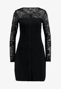 Urban Classics - LADIES BLOCK DRESS - Shift dress - black - 6