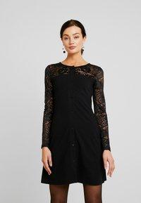 Urban Classics - LADIES BLOCK DRESS - Shift dress - black - 0