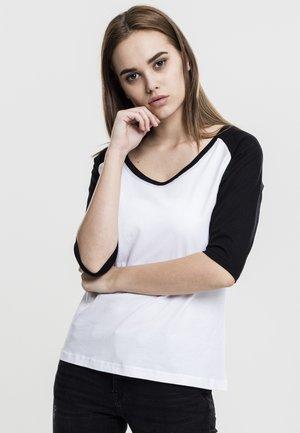 T-shirt à manches longues - white/black