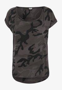 Urban Classics - CAMO  - Print T-shirt - black - 0