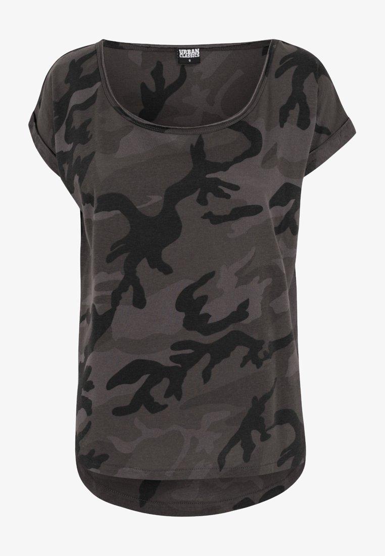 Urban Classics - CAMO  - Print T-shirt - black