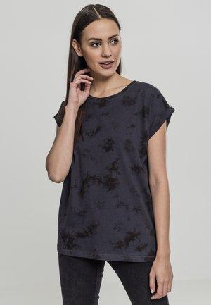 LADIES BATIC EXTENDED SHOULDER TEE - Print T-shirt - grey/black