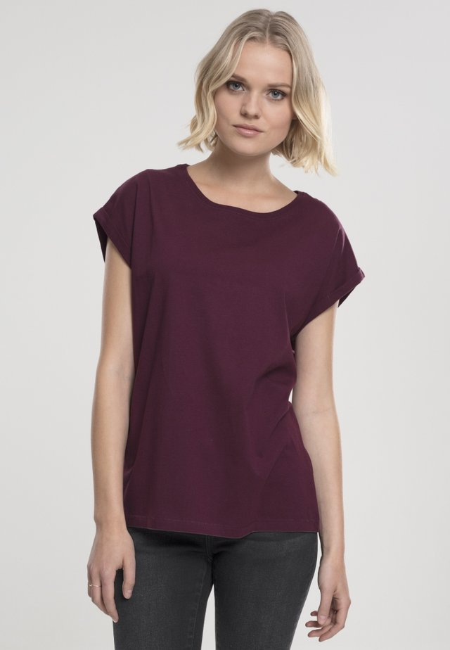 LADIES EXTENDED SHOULDER - Basic T-shirt - cherry
