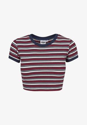 T-shirt imprimé - white/navy/fire red