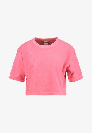 LADIES SHORT TOWEL TEE - T-shirts med print - pinkgrapefruit