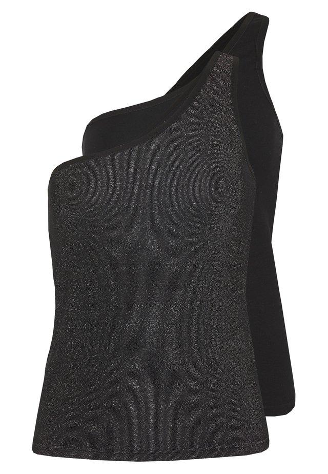 ASYMETRIC LUREX  2 PACK - Top - black