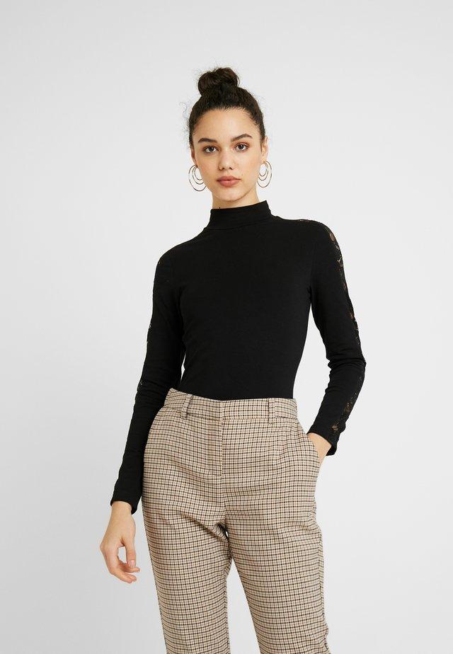 LADIES STRIPED - Långärmad tröja - black