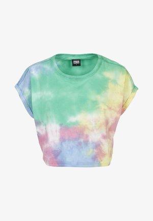 TIE DYE  - T-shirt con stampa - turquise/yellow