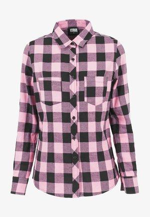 Button-down blouse - black/rose