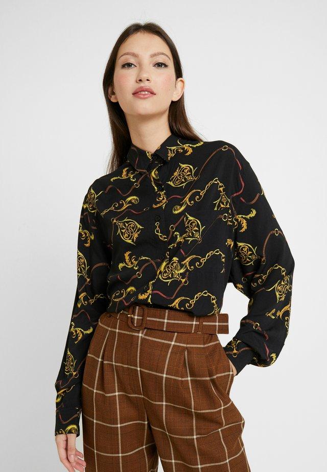 LADIES OVERSIZE - Button-down blouse - luxury black