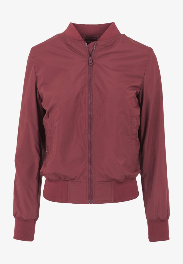 Bomber Jacket - burgundy