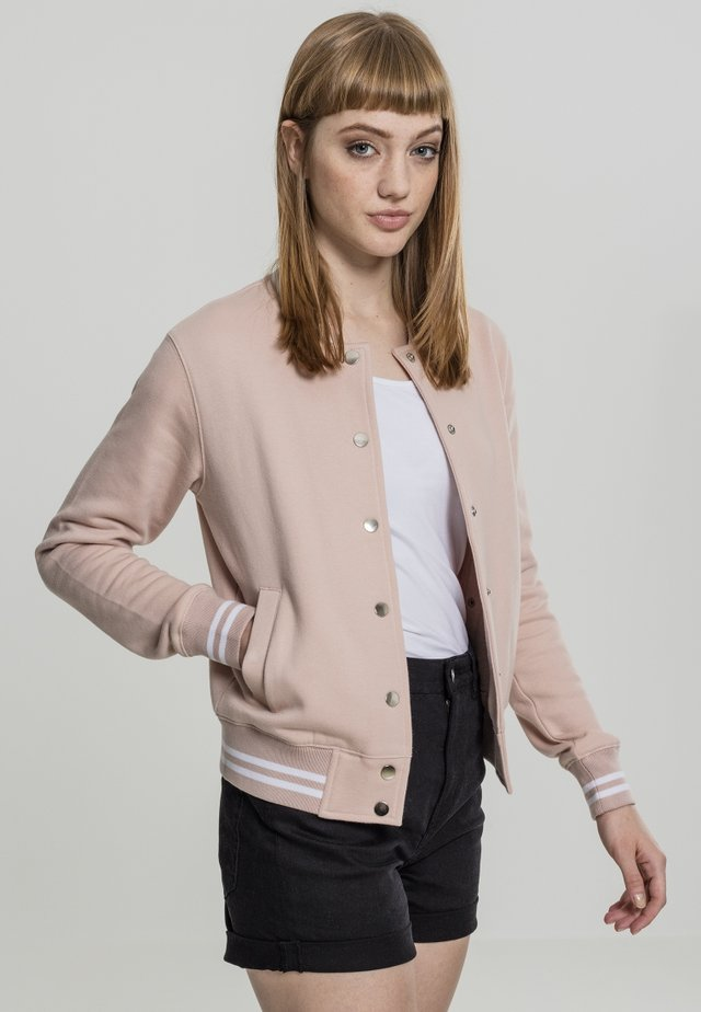 COLLEGE SWEAT - Summer jacket - lightrose