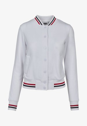 LADIES 3-TONE COLLEGE - Korte jassen - white/firered/navy