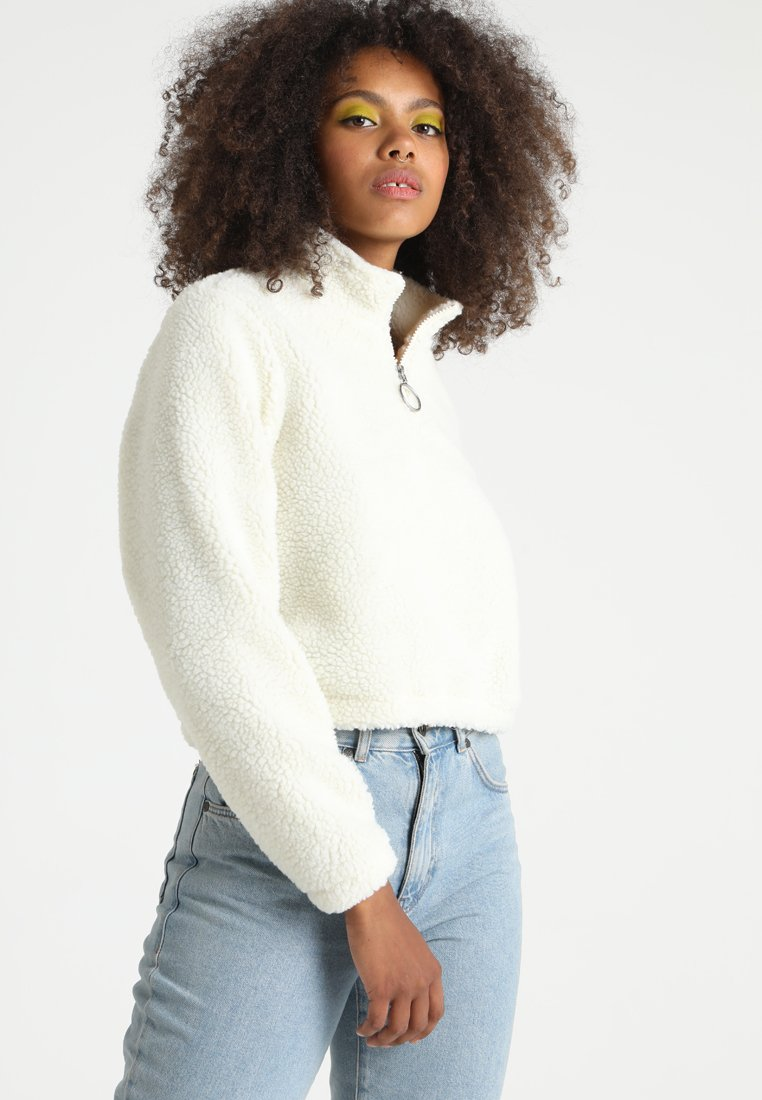 Urban Classics - LADIES SHORT SHERPA TROYER - Fleece trui - offwhite